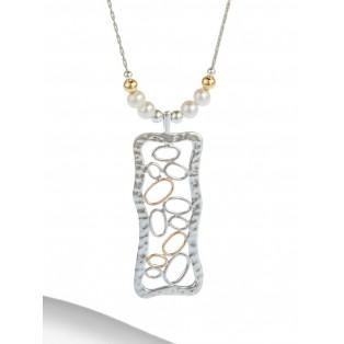 Fine Silver & Gold Wire Bubble Pendant