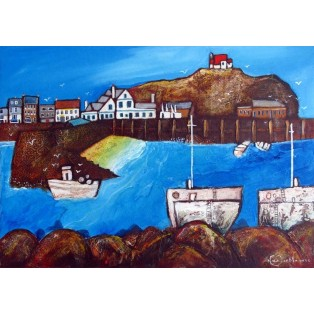 Across the Harbour with Seaguls  SOLD