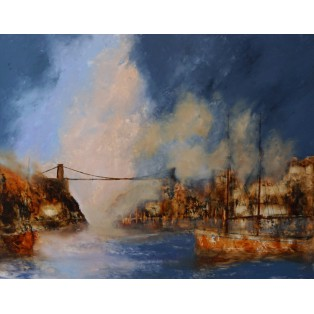 A Winters Day, Clifton Bridge SOLD