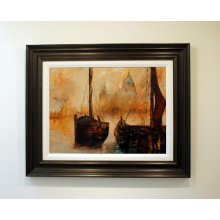 Two Boats, Copper Sky