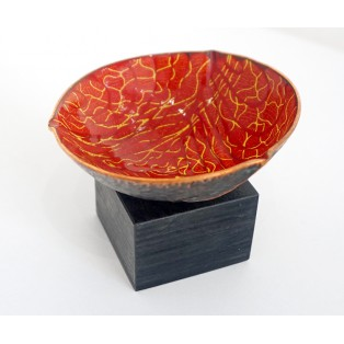 JH5  - Copper Sculpture - Red Veined