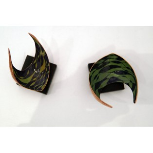 Freeform sculpture - Pair - Planished copper