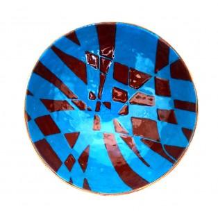 JH7  - Copper Sculpture - Blue - Brown